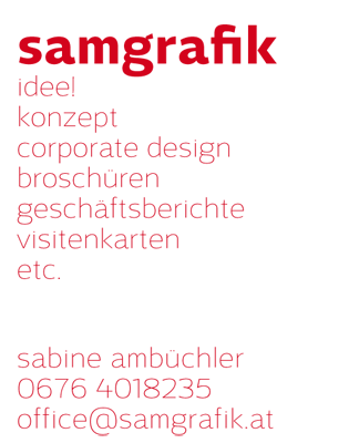 samgrafik.at - idee! konzept, corporate design...